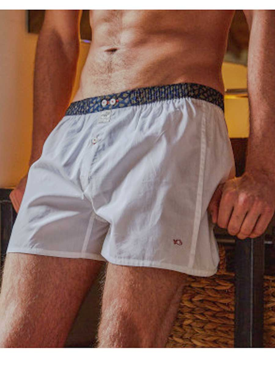 Men's Organic Cotton Boxers - woven white