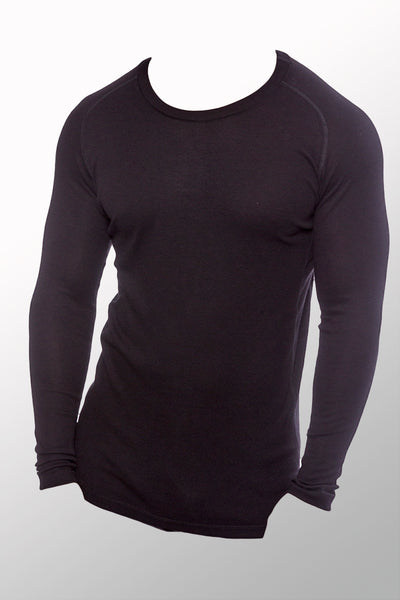 Men's Long Sleeve Undershirt - viscose from Bamboo - Natural Clothing Company
