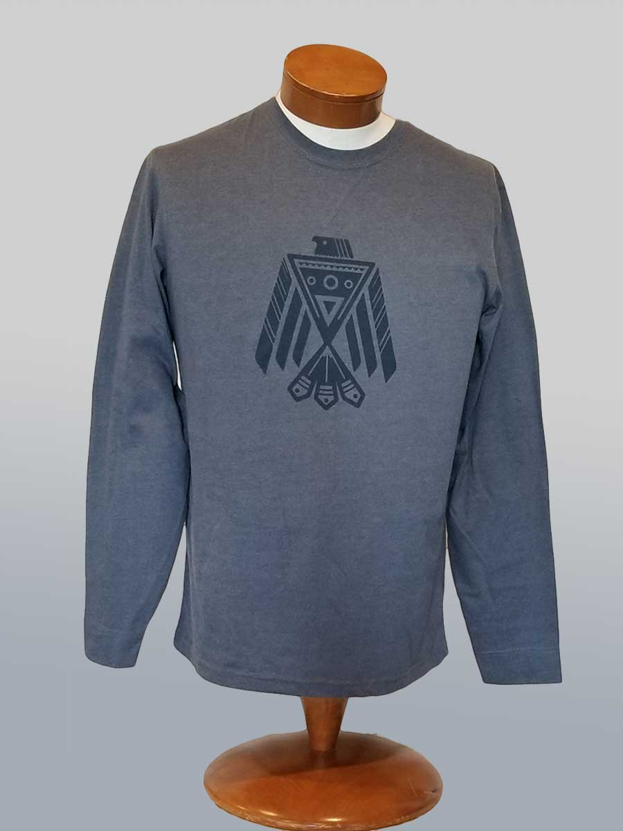 Men's Eco-friendly Long Sleeve Tee - Thunderbird - Natural Clothing Company