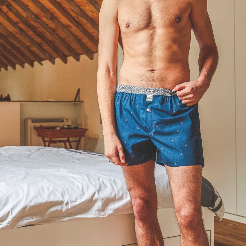Men's Organic Cotton Boxers - Red Pyramid
