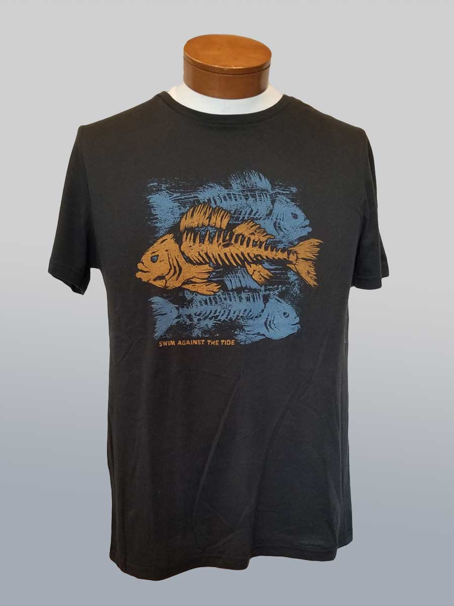 Men's Organic Cotton Tee - Swim Against the Tide - Natural Clothing Company