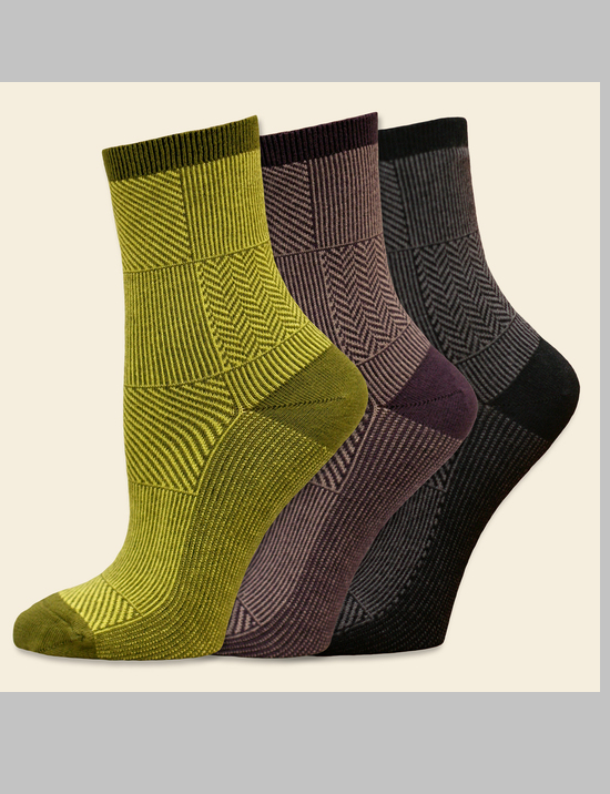 Women's Trouser Socks - Patchwork