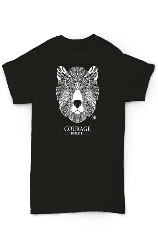 Hemp Blend T-shirt - Bear, Courage