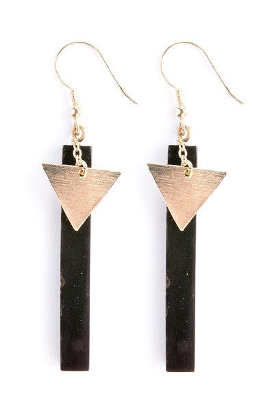 Midnight Drop Earrings - Natural Clothing Company