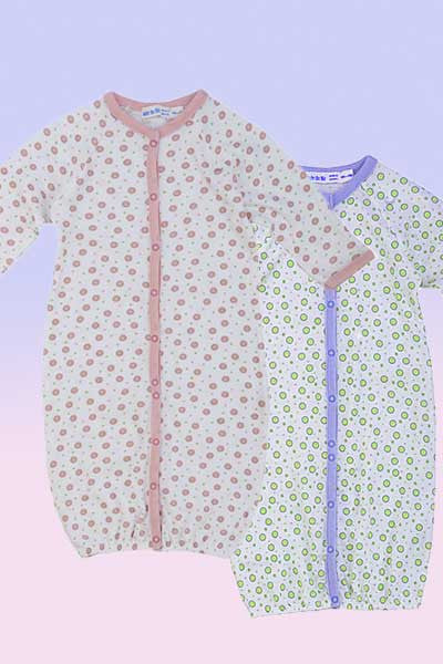 Newborn Organic Convertible Romper - multi purpose