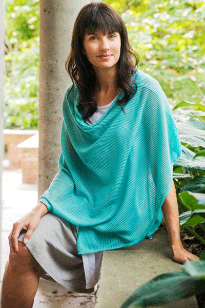 Organic Cotton Capelet - Sophie - Natural Clothing Company