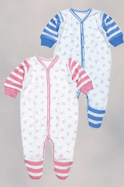 Organic Footie, Boy or Girl People Print - 3 to 6 mo. - Natural Clothing Company