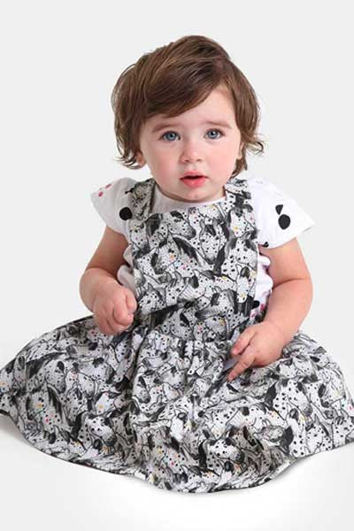Organic Cotton Pinafore Abigail Carousel - 3 mo. to 24 mo. - Natural Clothing Company