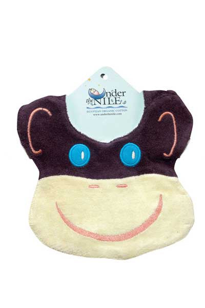 Organic Baby Bib - Monkey - Natural Clothing Company