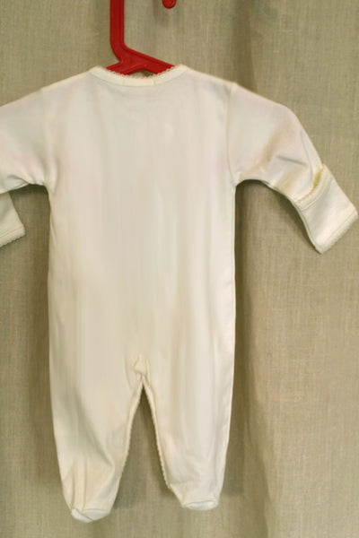 Baby Organic Cotton Footie with Mittens - Lamb - Natural Clothing Company
