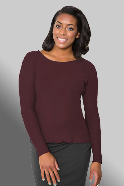 Organic Cotton Mesh long Sleeve Tee