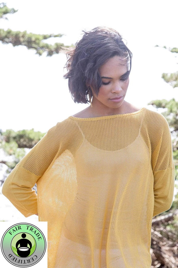 Organic Mesh Pullover - Natural Clothing Company