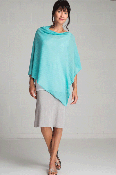 Organic Cotton Light Poncho - Sophie - Natural Clothing Company