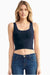 Organic Cotton Fitted Crop Top - Natural Clothing Company