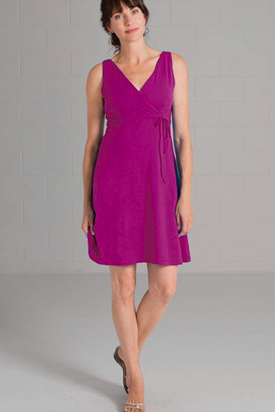 Organic Cotton Wrap Dress - Christie