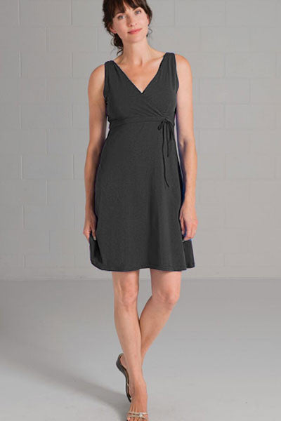 Organic Cotton Wrap Dress - Christie - Natural Clothing Company