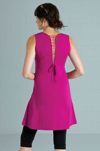 Organic Cotton Laced Back Dress - Salsa - Natural Clothing Company