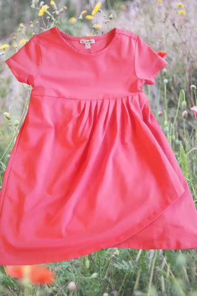 Organic Cotton Dress Blanche - kids 3 to 5 y.o.