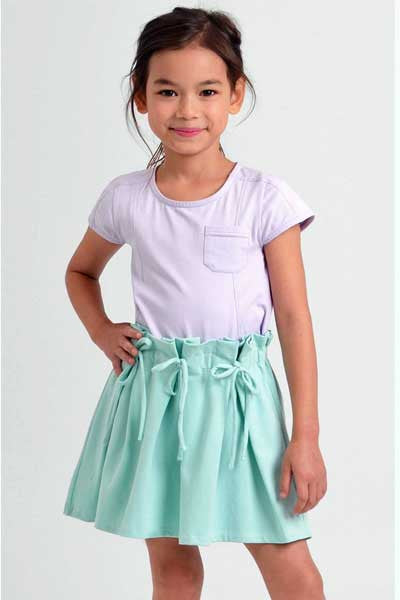 Organic Cotton Skirt Cecilia - kids 3 to 5 y.o.