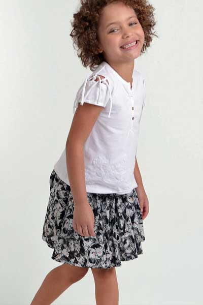 Organic Cotton Skirt Ava - kids 3 to 6 y.o.