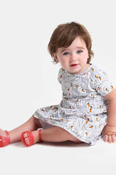 Organic Cotton Dress Jean - 9 mo. to 24 mo. - Natural Clothing Company