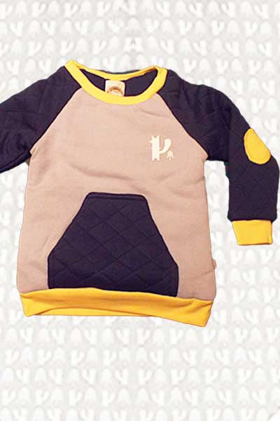 Todler Organic Fleece Sweatshirt - Foxy 2 to 4 T.