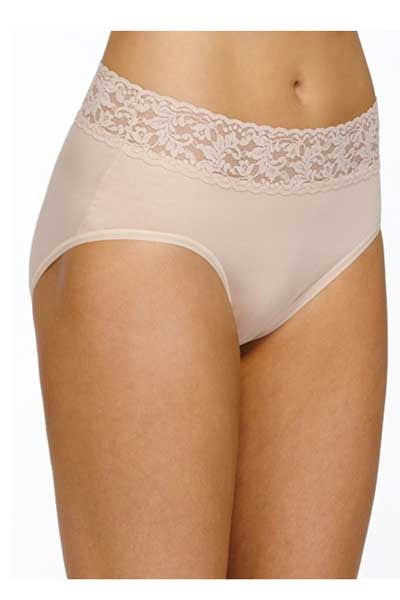 Organic Cotton Full Brief with Lace - Natural Clothing Company