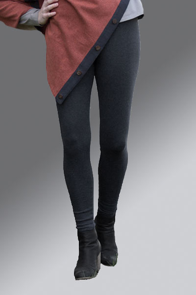 Women's Organic Cotton Leggings- Ribbed