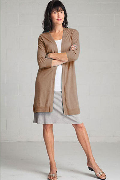 Organic Long Cardigan - Callie - Natural Clothing Company
