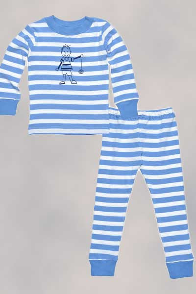 Organic Long Johns (PJs) - 2 to 6 y.o. - Natural Clothing Company