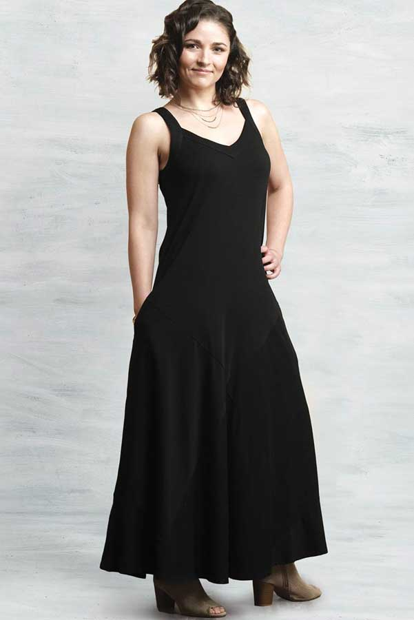 Organic Cotton Maxi Dress - two way