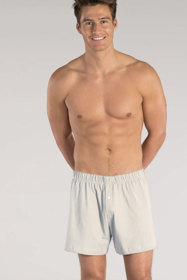Men's Organic Cotton Boxers with Covered Elastic