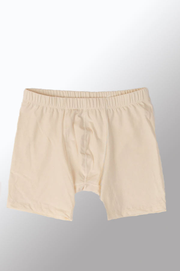 Men's Organic Cotton Boxer Briefs with Covered Elastic
