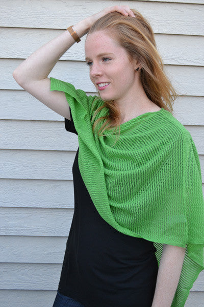 Organic Cotton Poncho - Sophie - Natural Clothing Company