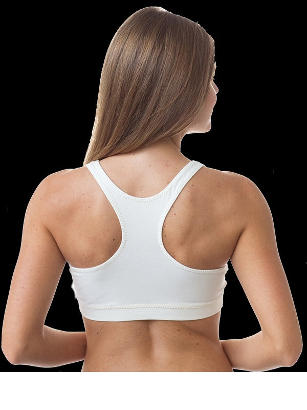 Organic Cotton Sports Bra - Solid Colors - Natural Clothing Company
