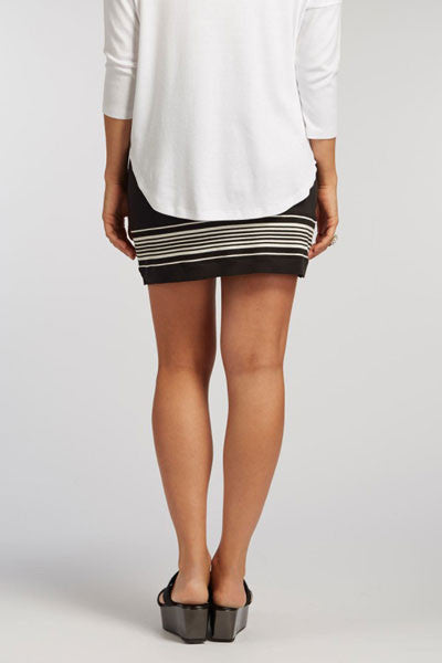 Organic Luxe Striped Skirt - Mini (Medium only) - Natural Clothing Company