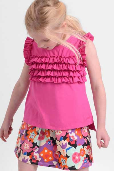 Organic Cotton Top Rosalie - kids 3 to 5 y.o. - Natural Clothing Company