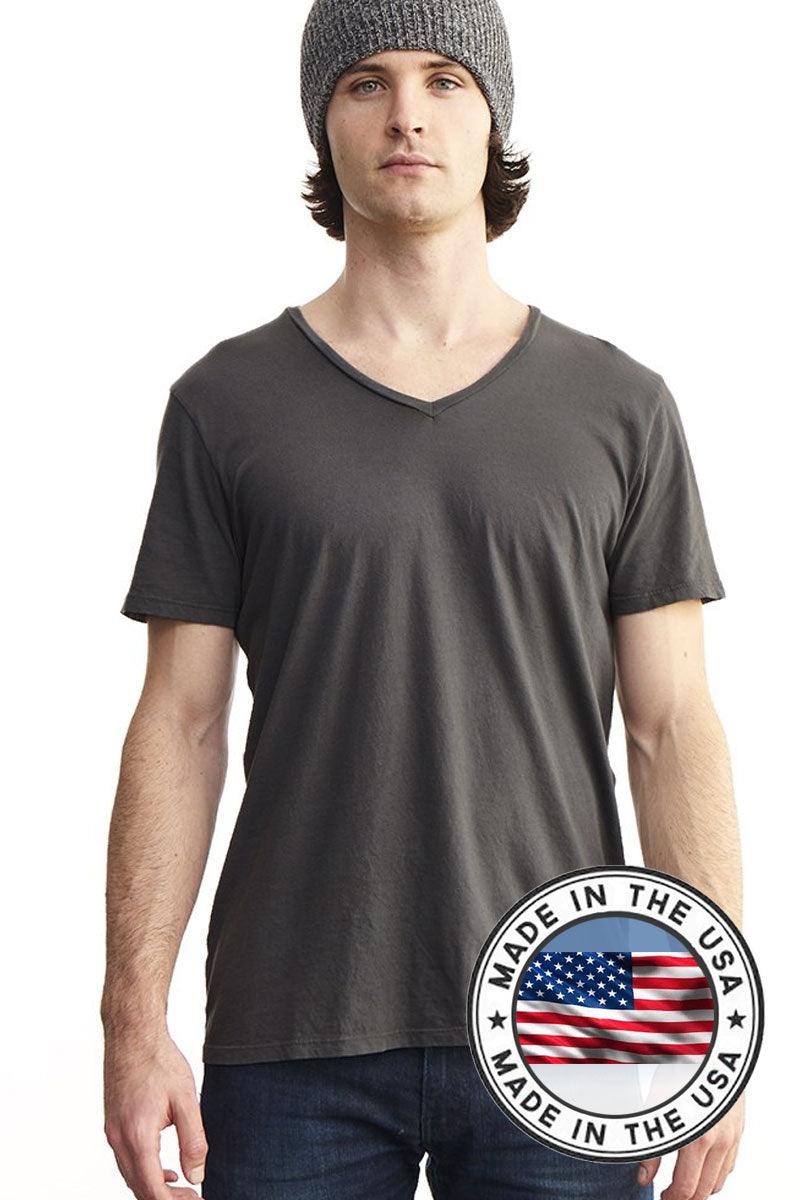 Men's Organic Cotton V-neck T-shirt - Natural Clothing Company