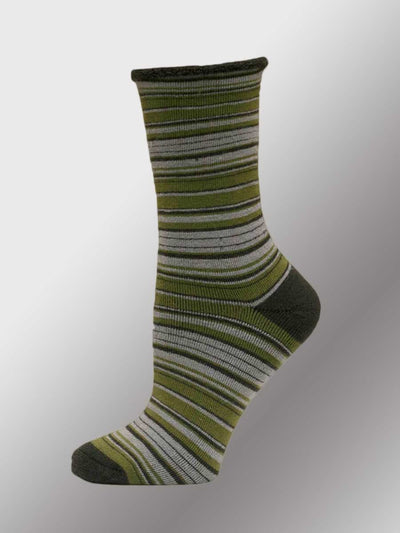 Men's Organic Wool Socks - Striped
