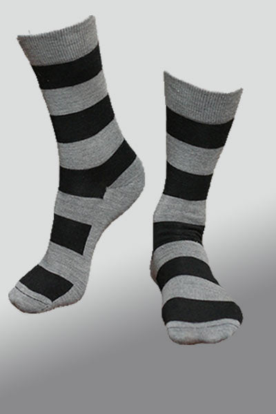 Organic Merino Wool Sock - Wide Stripes - Natural Clothing Company