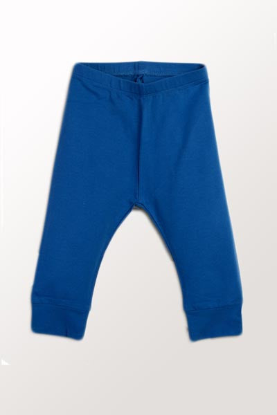 Organic Baby Pants - Blue Morpho 6 to 18 mo. - Natural Clothing Company