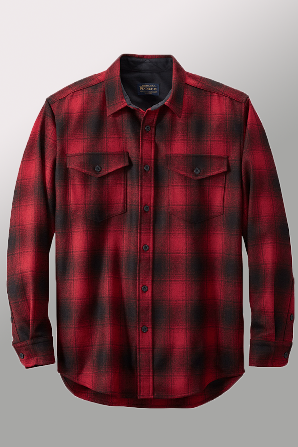 Men's Pendleton shirt - Guide red plaid
