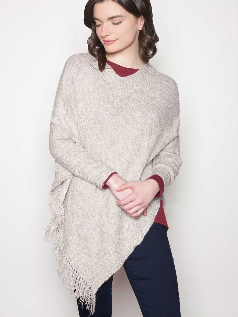 Poncho Sweater - Eco Friendly Recycled Yarns