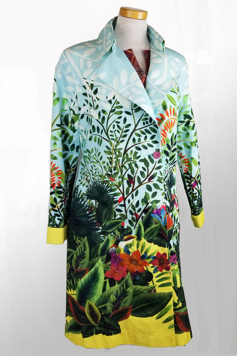 Printed Coat from Ivko - Magic Garden