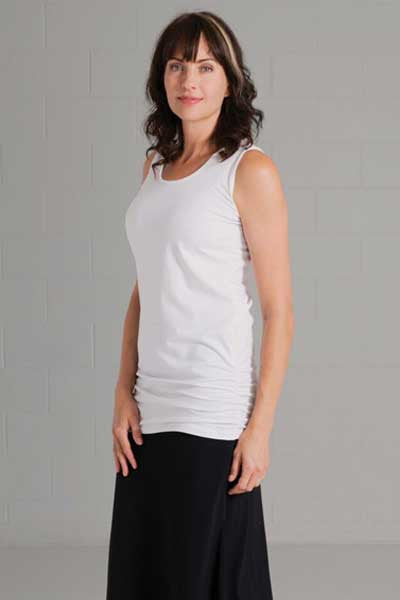 Organic Cotton Rouched Top - Rachel - Natural Clothing Company