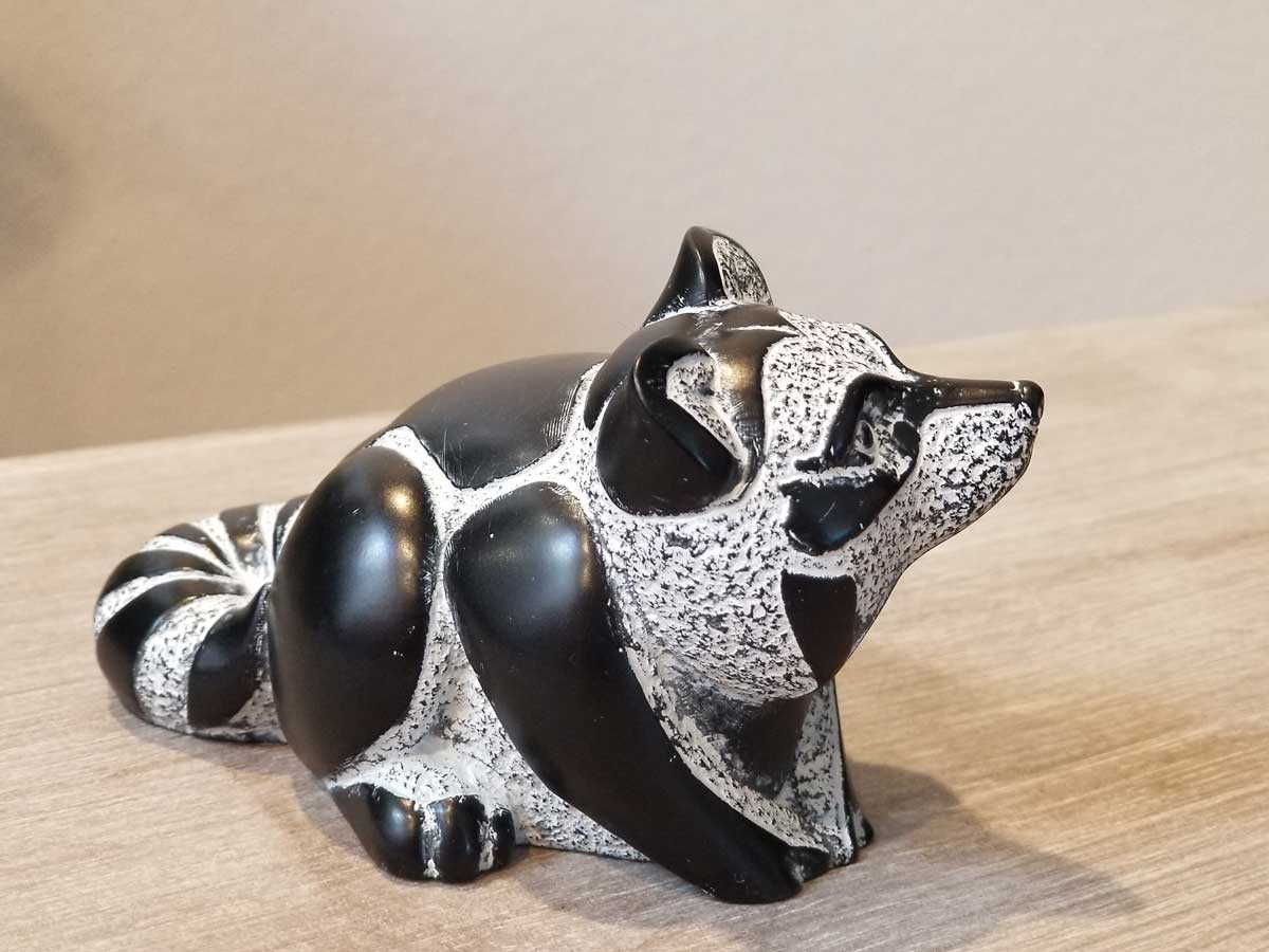 Racoon Sculpture - First Nations Art