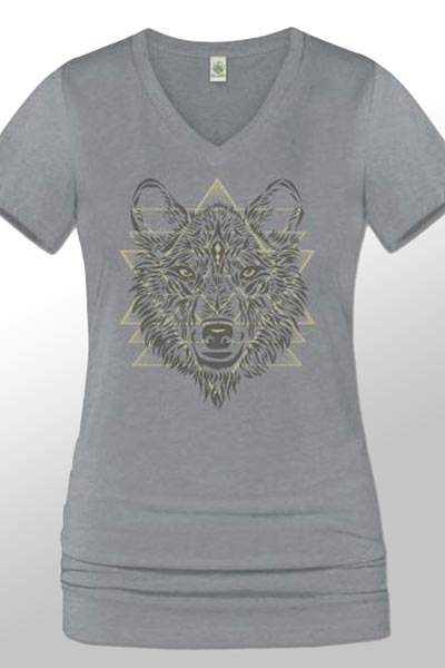 Wolf Power T-shirt - recycled plastic bottles