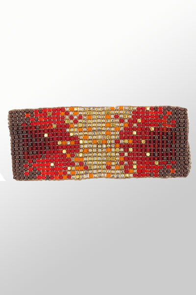 Beads and Brass Cuff - Callie