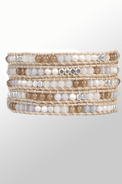 Crystal and Stone Wrap Bracelet - Miri