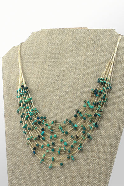 Semi-precious Rock Necklace